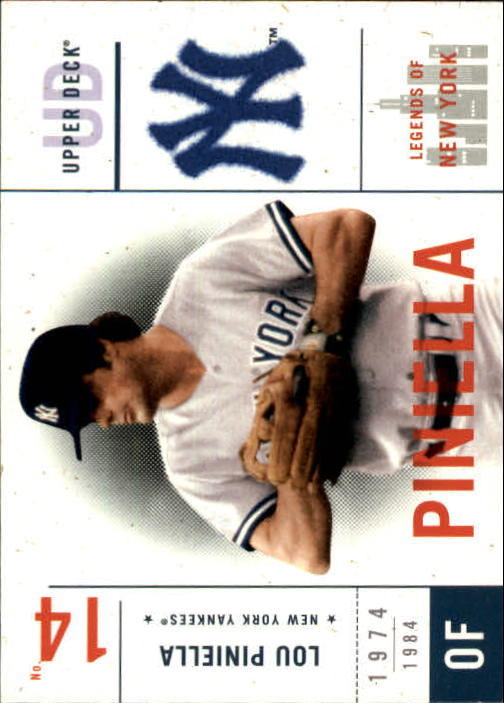2001 Upper Deck Legends of NY #112 Lou Piniella