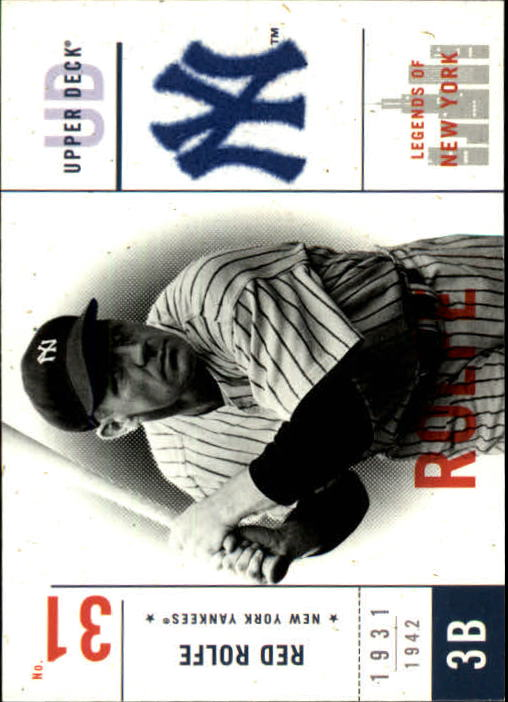 2001 Upper Deck Legends of NY #114 Red Rolfe