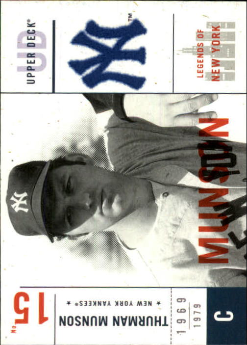 2001 Upper Deck Legends of NY #118 Thurman Munson front image
