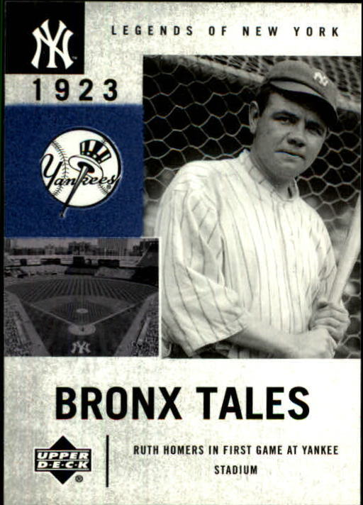 2001 Upper Deck Legends of NY #126 Babe Ruth BT