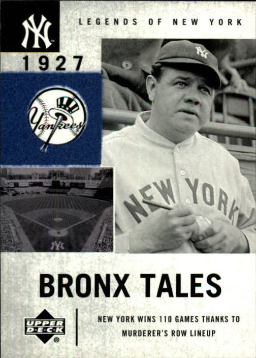 2001 Upper Deck Legends of NY #128 Babe Ruth BT