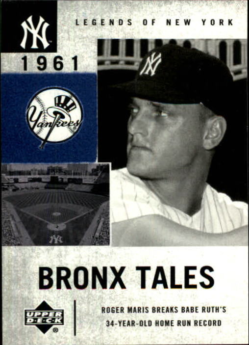 2001 Upper Deck Legends of NY #132 Roger Maris BT