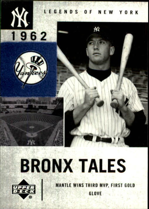 2001 Upper Deck Legends of NY #133 Mickey Mantle BT front image