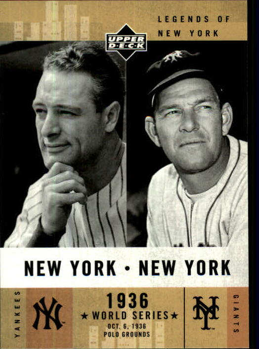 2001 Upper Deck Legends of NY #153 L.Gehrig/M.Ott