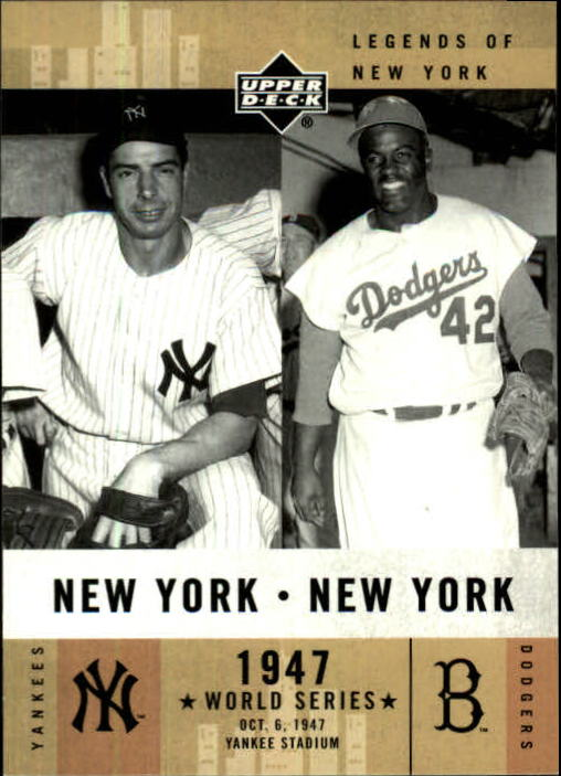 2001 Upper Deck Legends of NY #156 J.DiMaggio/J.Robinson