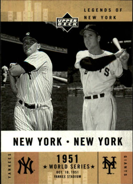 2001 Upper Deck Legends of NY #157 M.Mantle/B.Thomson