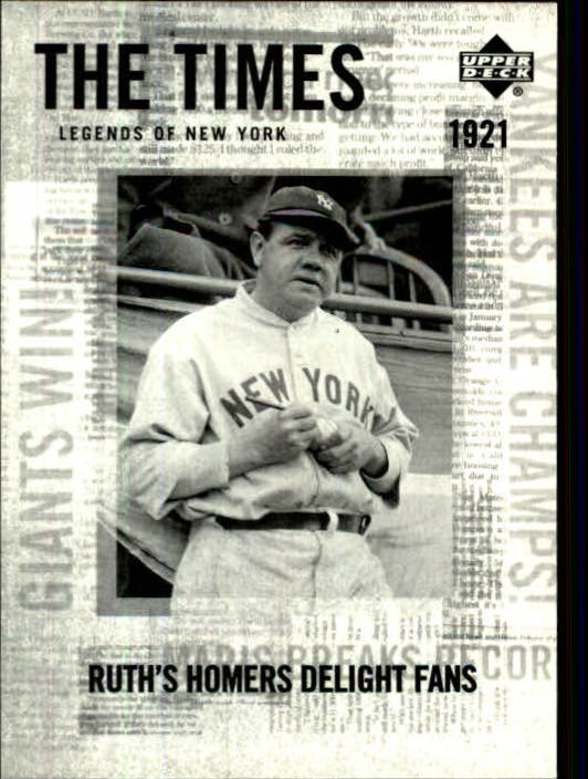 2001 Upper Deck Legends of NY #169 Babe Ruth TT
