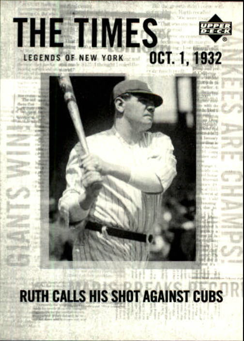 2001 Upper Deck Legends of NY #173 Babe Ruth TT front image