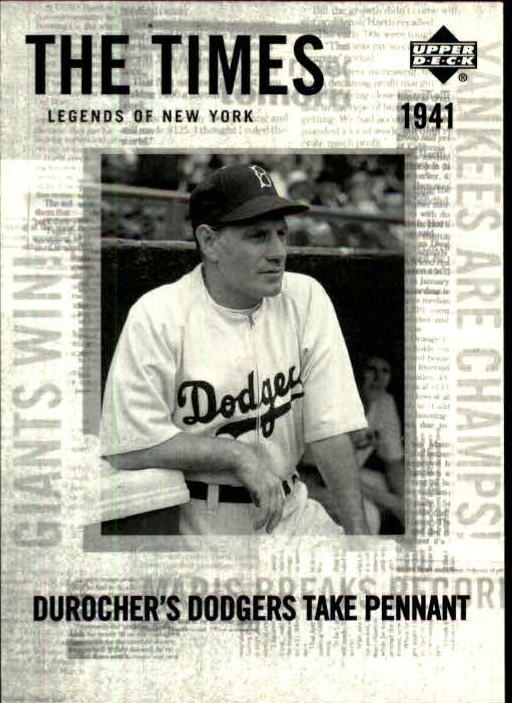 2001 Upper Deck Legends of NY #177 Leo Durocher TT