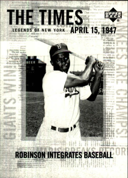2001 Upper Deck Legends of NY #180 Jackie Robinson TT