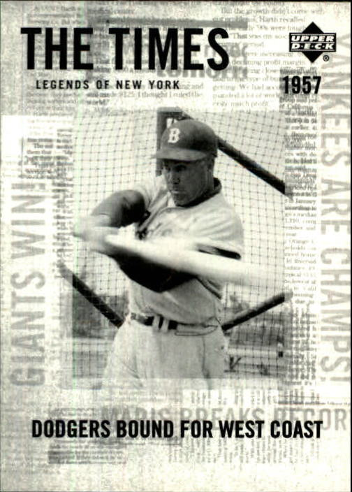 2001 Upper Deck Legends of NY #187 Duke Snider TT