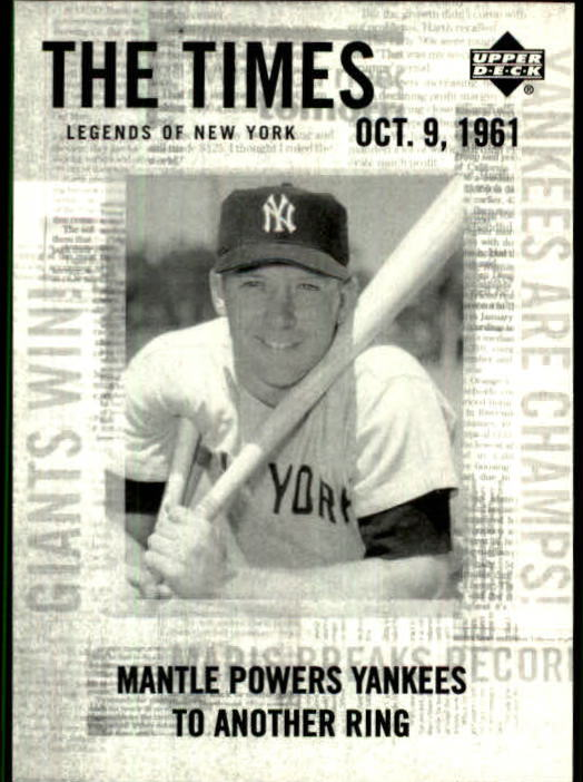 2001 Upper Deck Legends of NY #190 Mickey Mantle TT