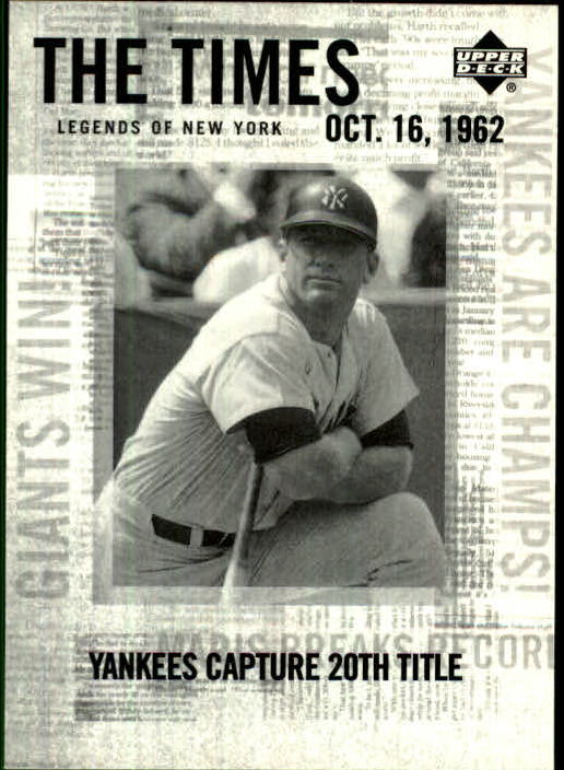 2001 Upper Deck Legends of NY #191 Mickey Mantle TT