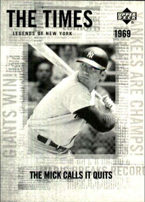 2001 Upper Deck Legends of NY #194 Mickey Mantle TT