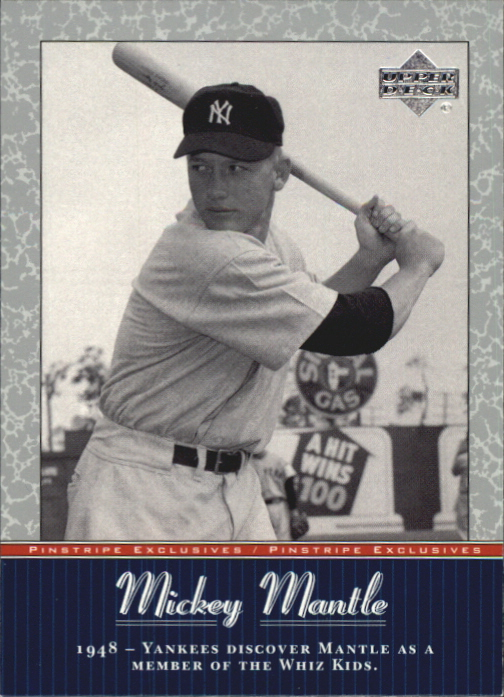 2001 Upper Deck Pinstripe Exclusives Mantle #MM5 Mickey Mantle front image