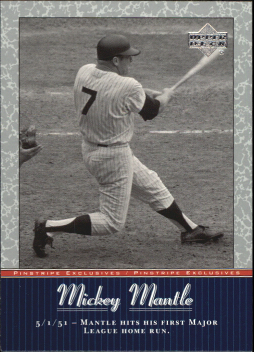 2001 Upper Deck Pinstripe Exclusives Mantle #MM7 Mickey Mantle