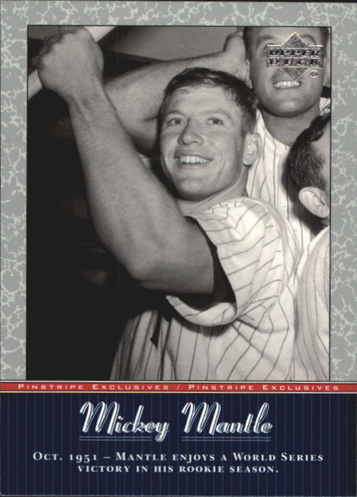 2001 Upper Deck Pinstripe Exclusives Mantle #MM8 Mickey Mantle