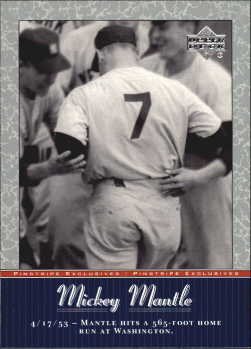 2001 Upper Deck Pinstripe Exclusives Mantle #MM13 Mickey Mantle front image
