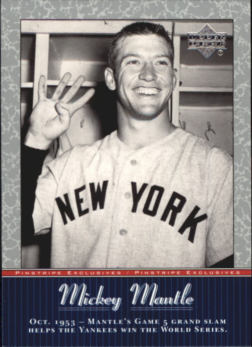 2001 Upper Deck Pinstripe Exclusives Mantle #MM15 Mickey Mantle front image