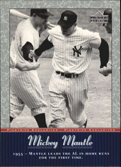 2001 Upper Deck Pinstripe Exclusives Mantle #MM17 Mickey Mantle
