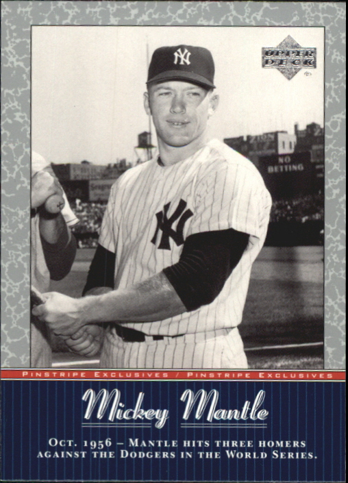 2001 Upper Deck Pinstripe Exclusives Mantle #MM23 Mickey Mantle front image