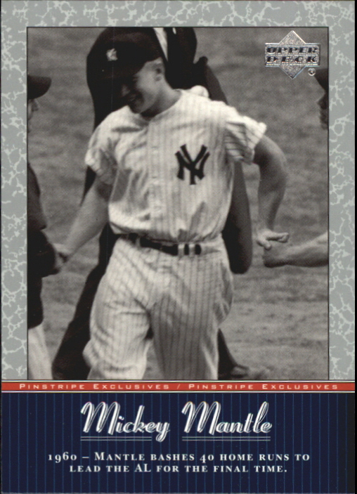 2001 Upper Deck Pinstripe Exclusives Mantle #MM31 Mickey Mantle