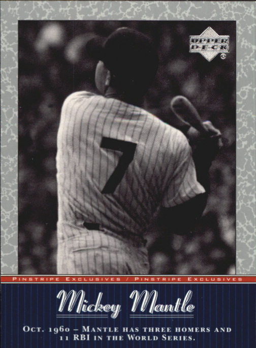 2001 Upper Deck Pinstripe Exclusives Mantle #MM33 Mickey Mantle