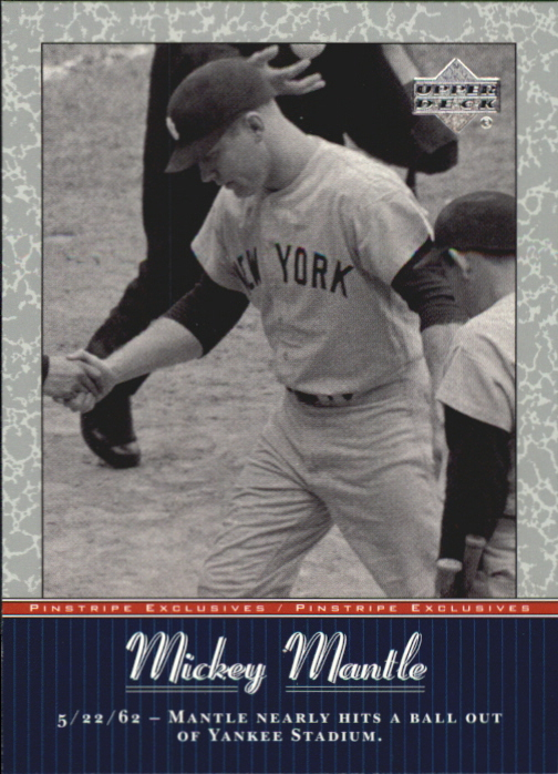 2001 Upper Deck Pinstripe Exclusives Mantle #MM36 Mickey Mantle