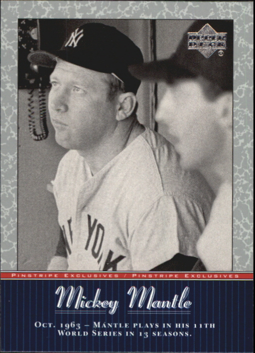 2001 Upper Deck Pinstripe Exclusives Mantle #MM42 Mickey Mantle