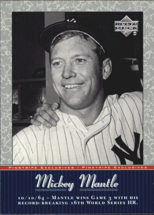 2001 Upper Deck Pinstripe Exclusives Mantle #MM43 Mickey Mantle