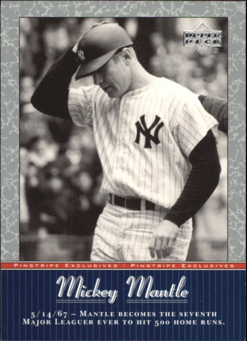 2001 Upper Deck Pinstripe Exclusives Mantle #MM46 Mickey Mantle