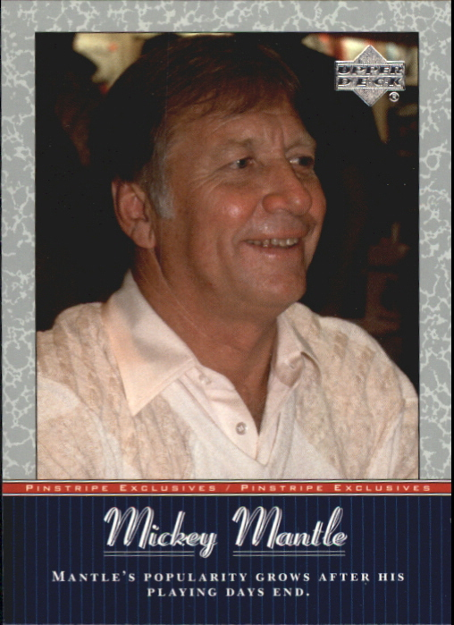 2001 Upper Deck Pinstripe Exclusives Mantle #MM53 Mickey Mantle