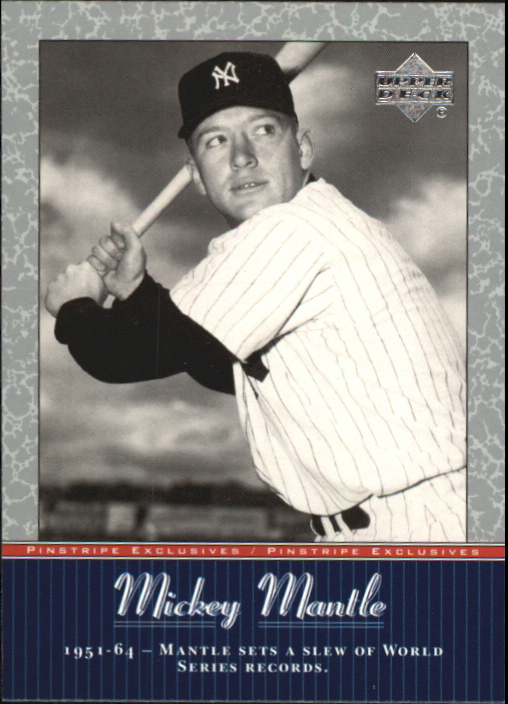 2001 Upper Deck Pinstripe Exclusives Mantle #MM55 Mickey Mantle