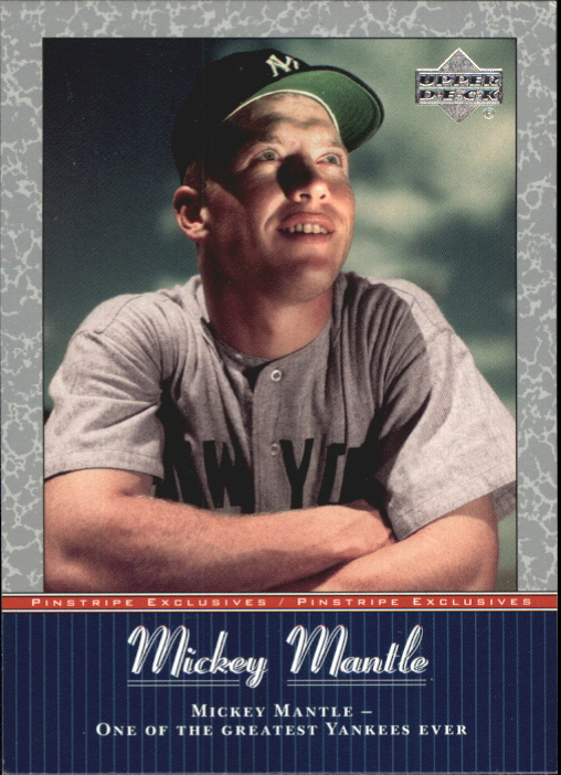 2001 Upper Deck Pinstripe Exclusives Mantle #MM56 Mickey Mantle