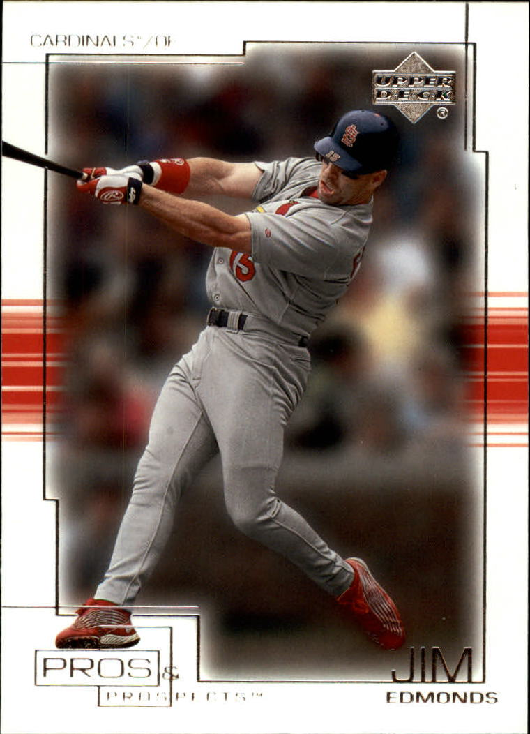 2001 Upper Deck Pros and Prospects #54 Jim Edmonds
