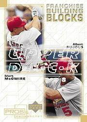 2001 Upper Deck Pros and Prospects Franchise Building Blocks #F18 M.McGwire/A.Pujols