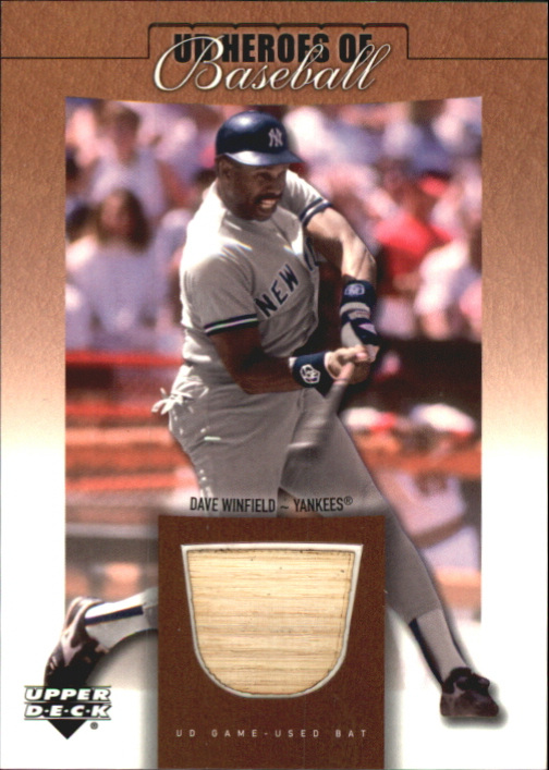 2001 Upper Deck Prospect Premieres Heroes of Baseball Game Bat #BDW Dave Winfield