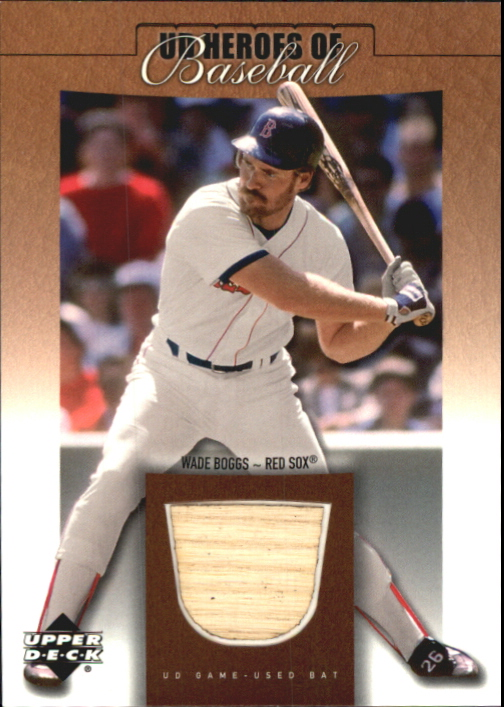 2001 Upper Deck Prospect Premieres Heroes of Baseball Game Bat #BWB Wade Boggs