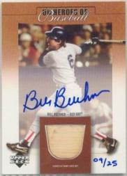 2001 Upper Deck Prospect Premieres Heroes of Baseball Game Bat Autograph #SBBB Bill Buckner
