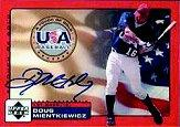 2001 Upper Deck Rookie Update USA Touch of Gold Autographs #DM Doug Mientkiewicz