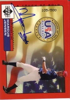2001 Upper Deck Rookie Update USA Touch of Gold Autographs #MJ Marcus Jensen