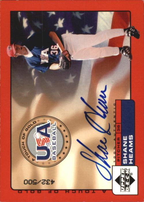 2001 Upper Deck Rookie Update USA Touch of Gold Autographs #SH Shane Heams