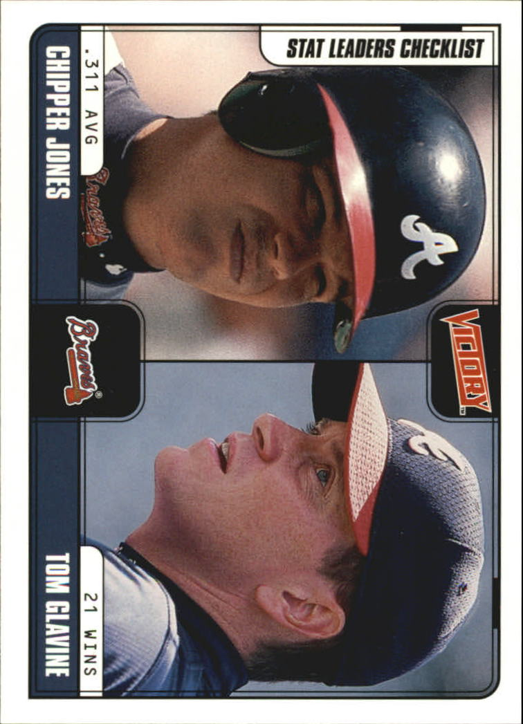 2001 Upper Deck Victory #292 C.Jones/T.Glavine CL