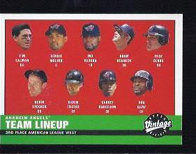 2001 Upper Deck Vintage #11 California Angels CL