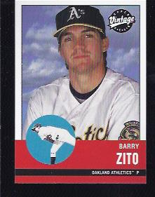 2001 Upper Deck Vintage #21 Barry Zito