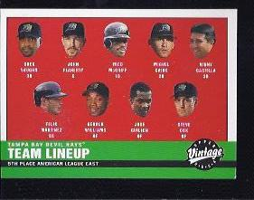 2001 Upper Deck Vintage #45 Tampa Bay Devil Rays CL