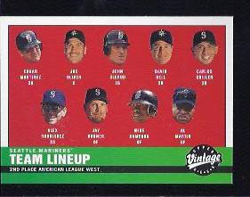 2001 Upper Deck Vintage #68 Seattle Mariners CL