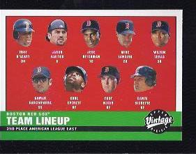 2001 Upper Deck Vintage #103 Boston Red Sox CL