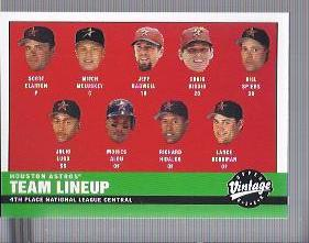 2001 Upper Deck Vintage #172 Houston Astros CL