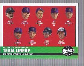 2001 Upper Deck Vintage #230 Arizona Diamondbacks CL